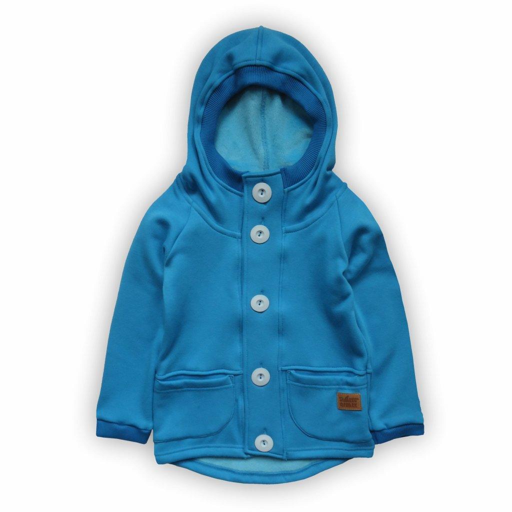 Mikina s fleecem jasně modrá 1