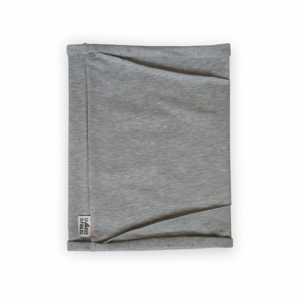 Nákrční tubus šedý melír 1