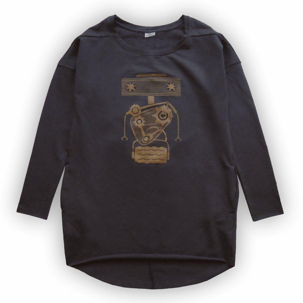 Dámská tunika teplákové šaty černá 1