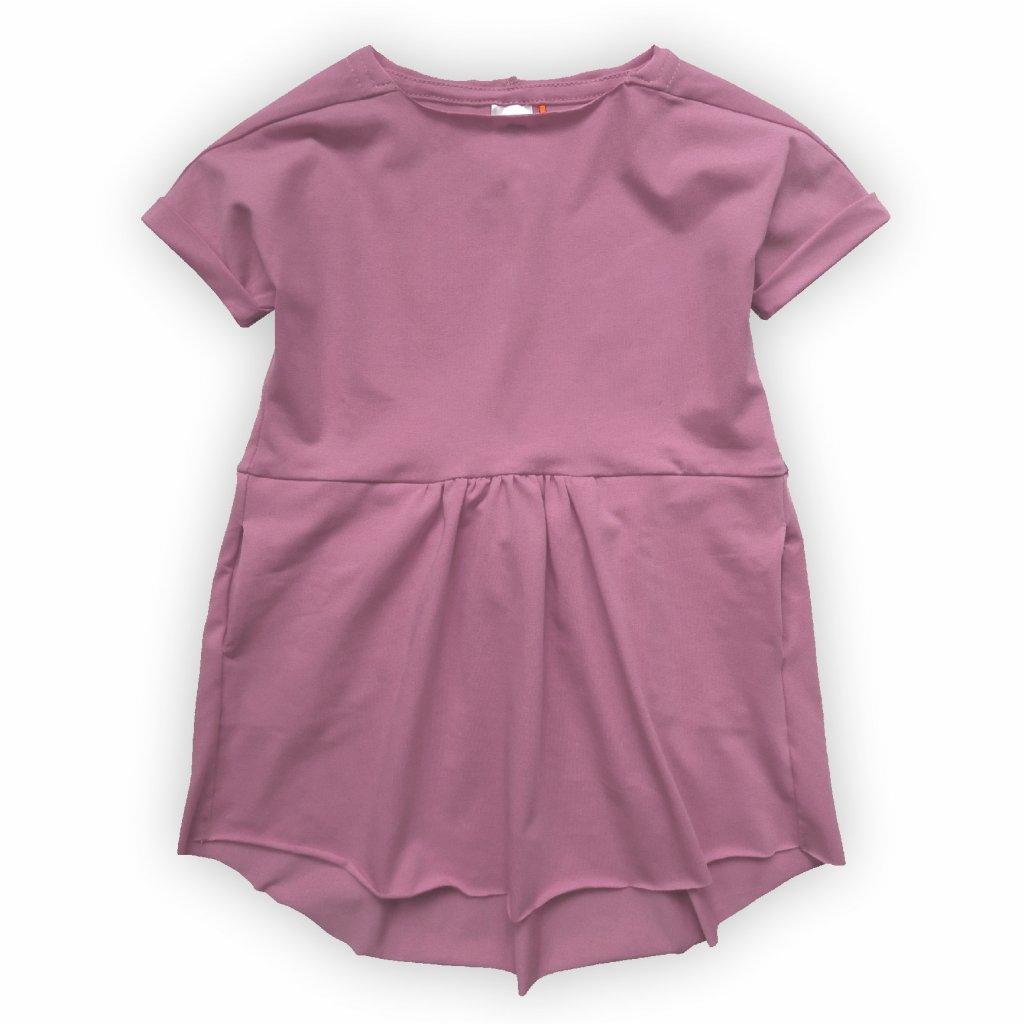 Šaty dětské růžovo fialová 1
