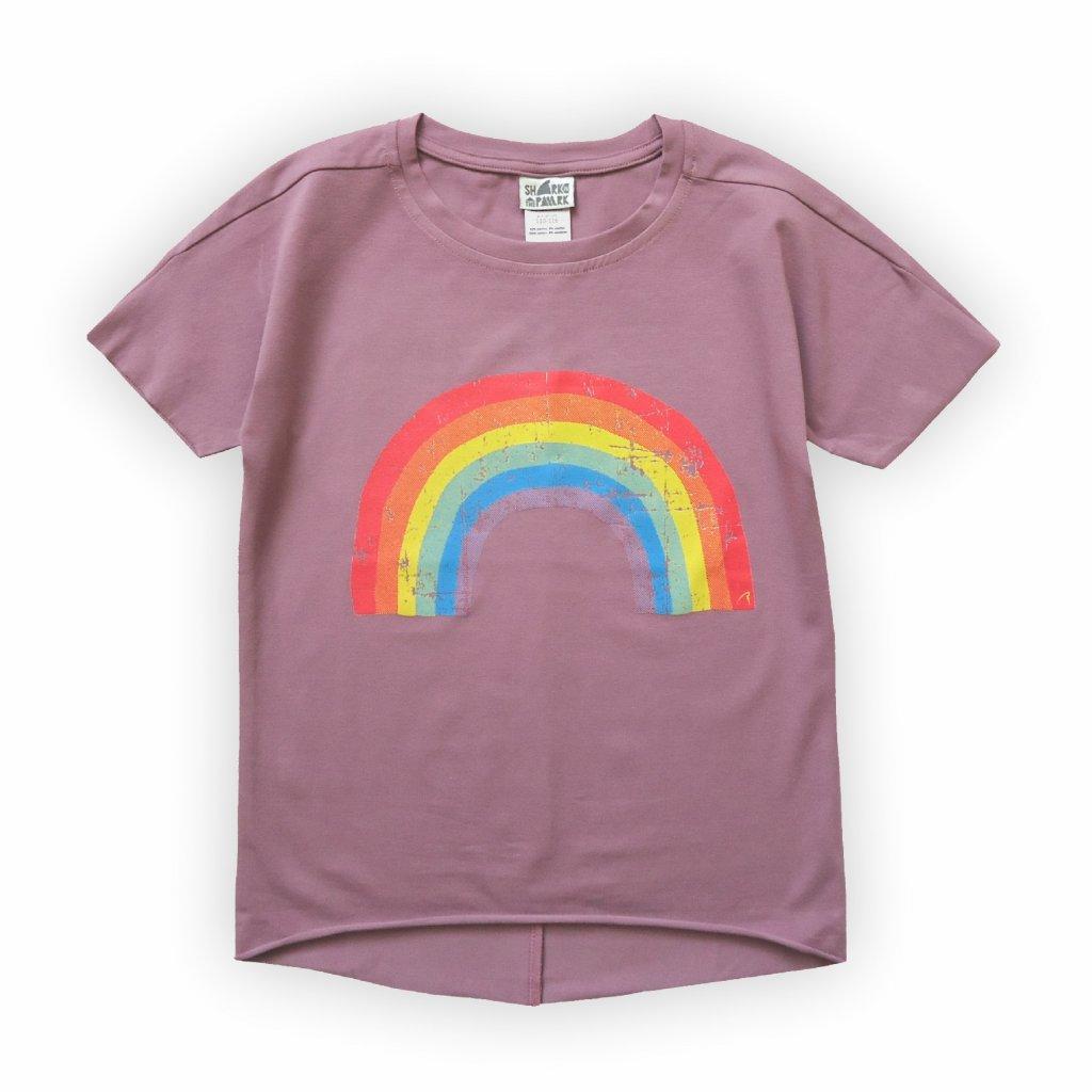 dětské triko fialovo růžová 1