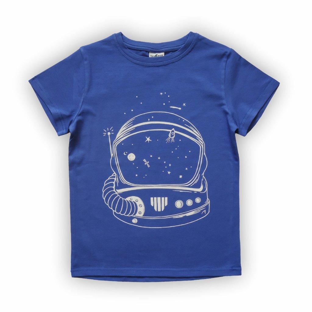 dětské triko kobaltově modrá helma 1