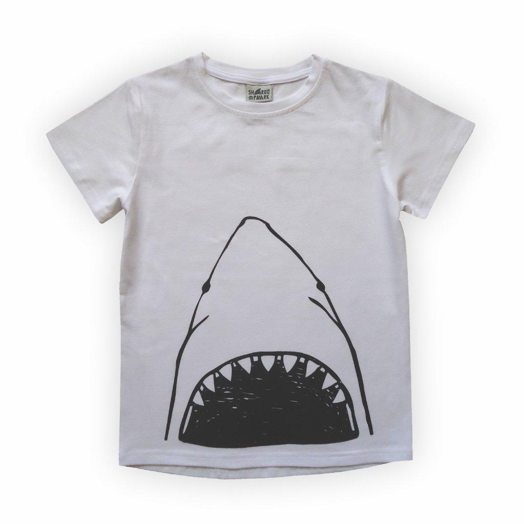 dětské triko bílá žralok 1