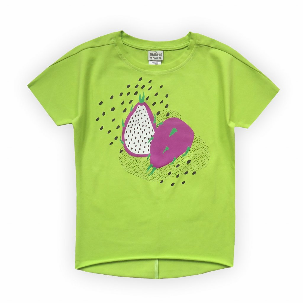 dívčí triko žluto zelená 1