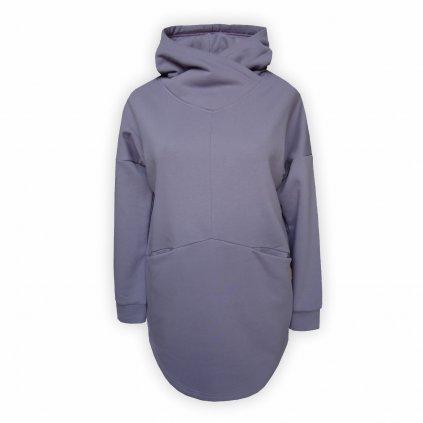 mikina damska s kapuci fialova 1