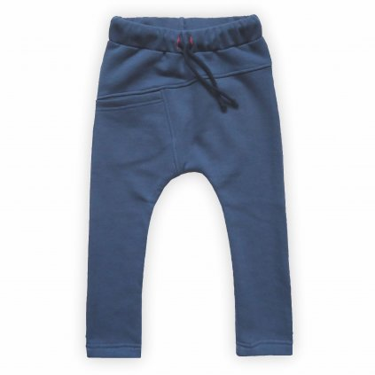 Dětské tepláky modrá šedá 1