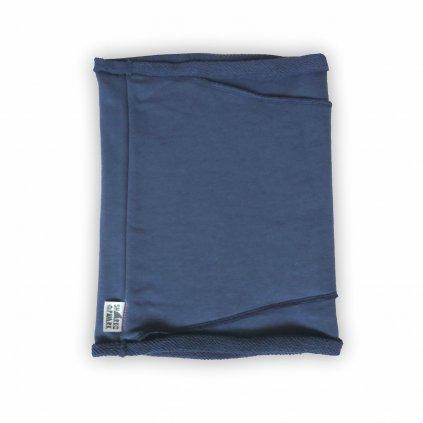 Nákrční tubus jeans modrá 1