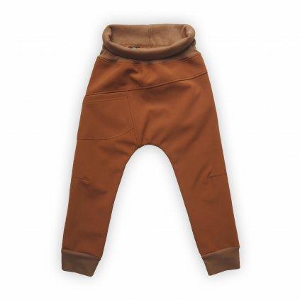 kalhoty softshell hneda 1