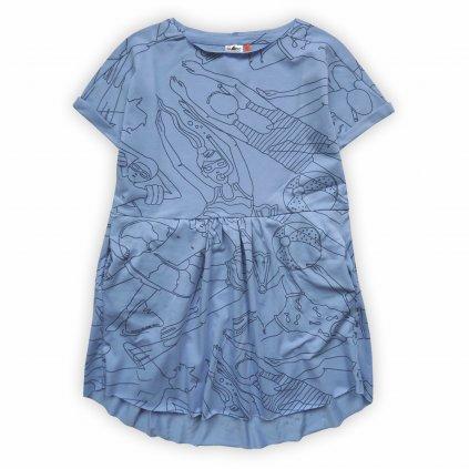 Šaty dětské modrá 1