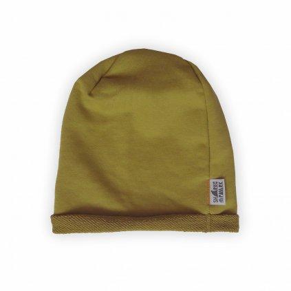 Čepice beanie žlutá 1