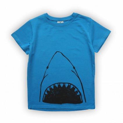 dětské triko modrá žralok 1