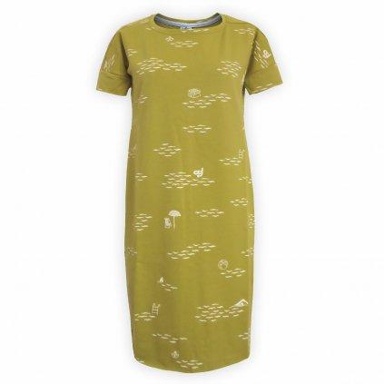 šaty dámské žlutá 1