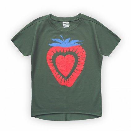 dívčí triko khaki zelená 1