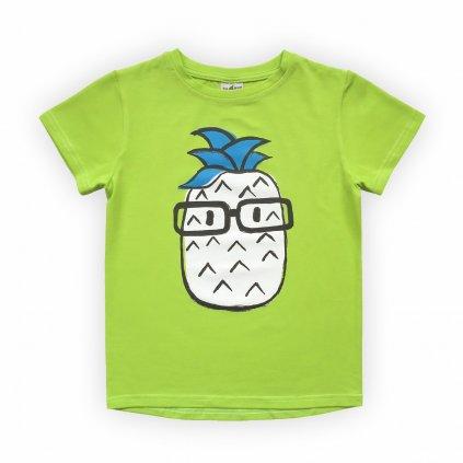 dětské triko žluto zelená 1