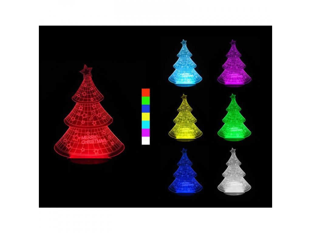 Sharks 3D LED lampa - Vánoční stromek