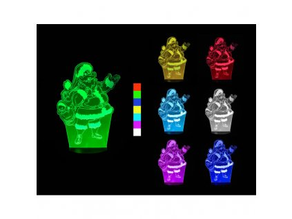 Sharks 3D LED lampa - Santa Claus