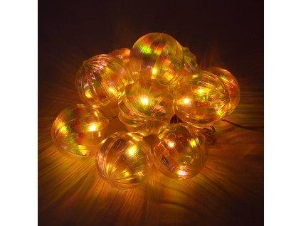 10 LED Solární vánoční osvětlení Sharks - koule, teplá bílá