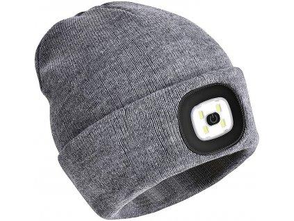 Svítící čepice - šedá