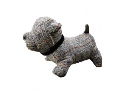 Zarážka do dveří - Pes, 28x15 cm, šedý