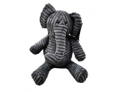 Zarážka do dveří - Slon, 22x11 cm, šedý