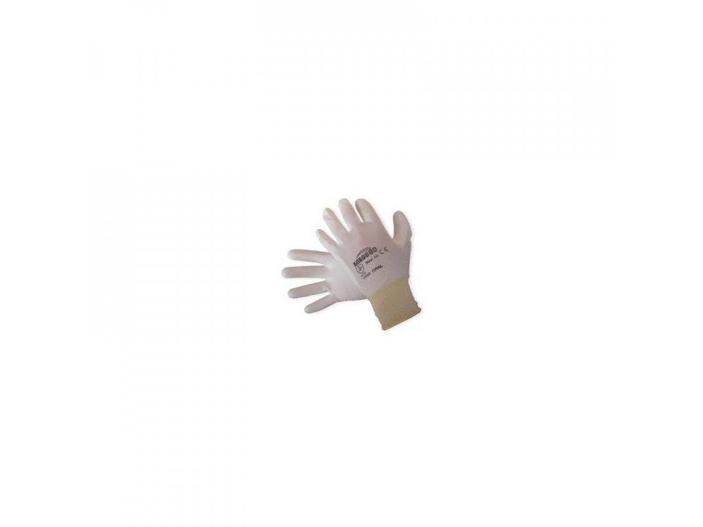 Pracovní rukavice,nylon-bílá vel.9