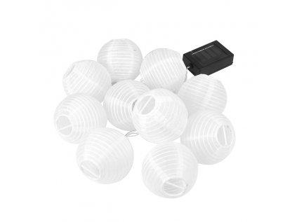 10 LED solárne osvetlenie - guľa