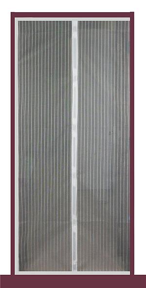 Moskytiéra do dverí 210*100CM s magnetky - biela