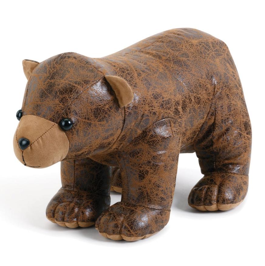 Zarážka do dverí - Medveď, 29x16,5 cm, hnedý