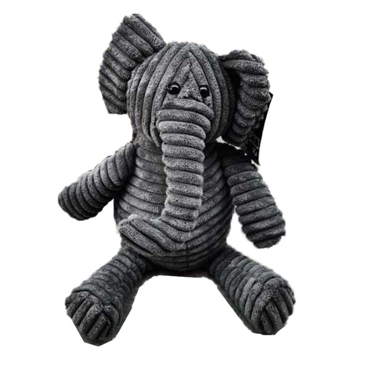 Zarážka do dverí - Slon, 22x11 cm, sivý