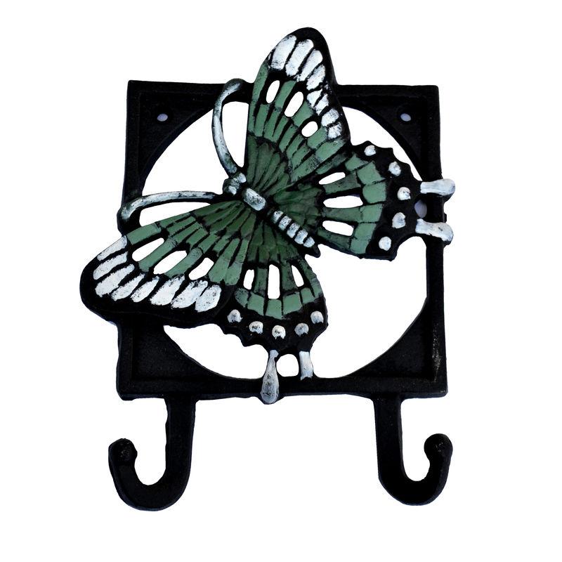 """Farebný liatinový háčik """"motýl2"""""""