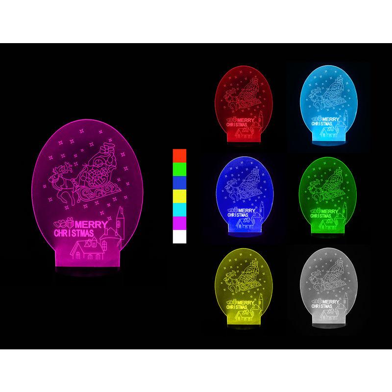 3D LED lampa - Vianočné sane