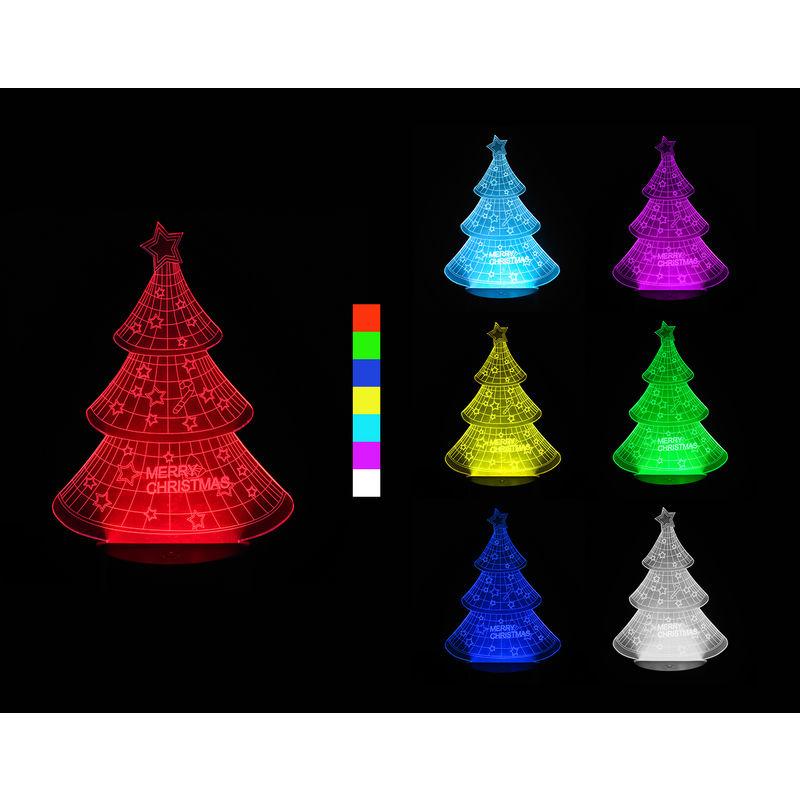 3D LED lampa - Vianočný stromček