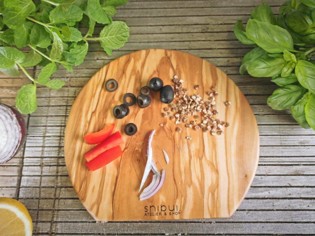 Olivové kuchyňské prkénko kulaté