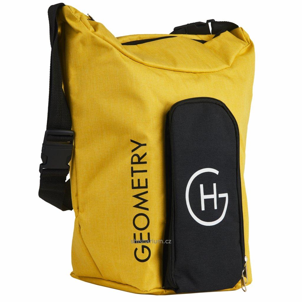 taska na prenos vodni dymky geometry bag yellow