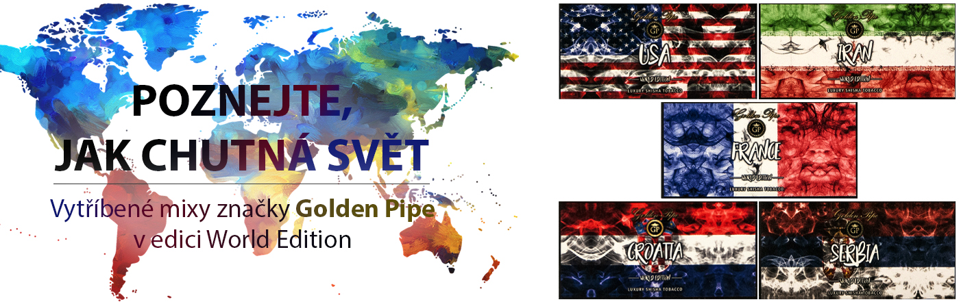 Tabák do vodní dýmky Golden Pipe World Edition