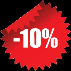 Sleva 10% na nákup za provedení validace