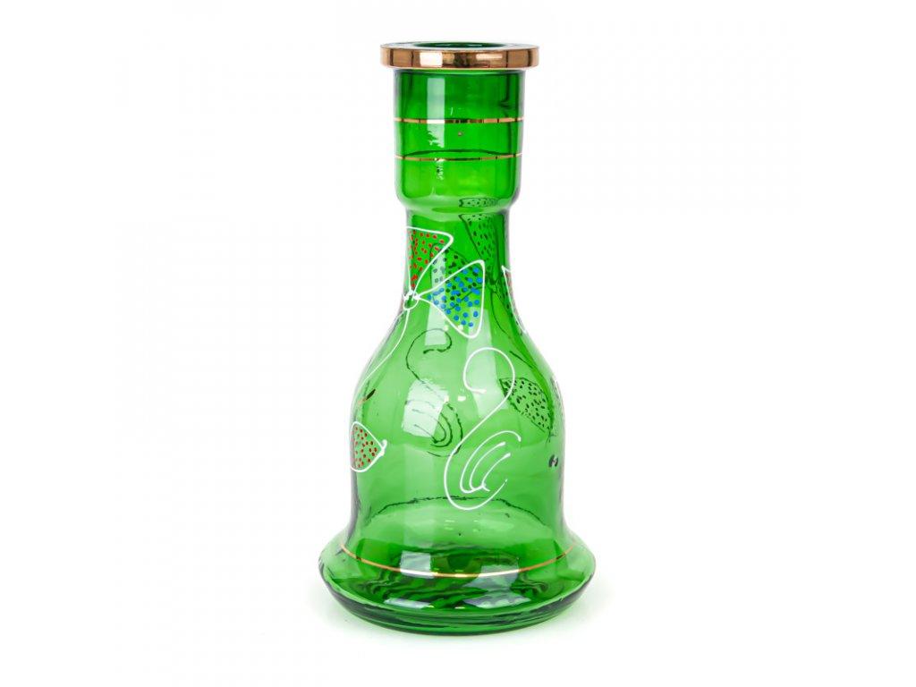 Váza pro vodní dýmky Top Mark Fateh Painted 30 cm zelená