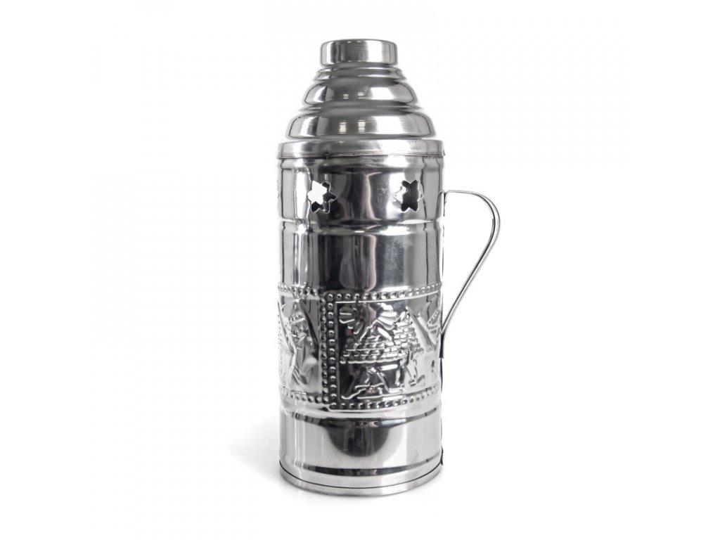 Tarbuš pro vodní dýmky Top Mark 25 cm stříbrný