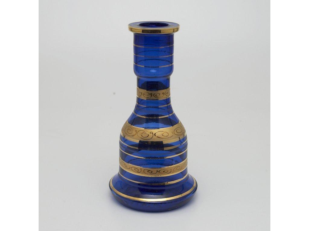 Váza pro vodní dýmky Top Mark Fateh Gold 30 cm modrá