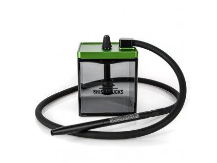 Vodní dýmka Shishabucks Cloud Micro Black 18 cm zelená