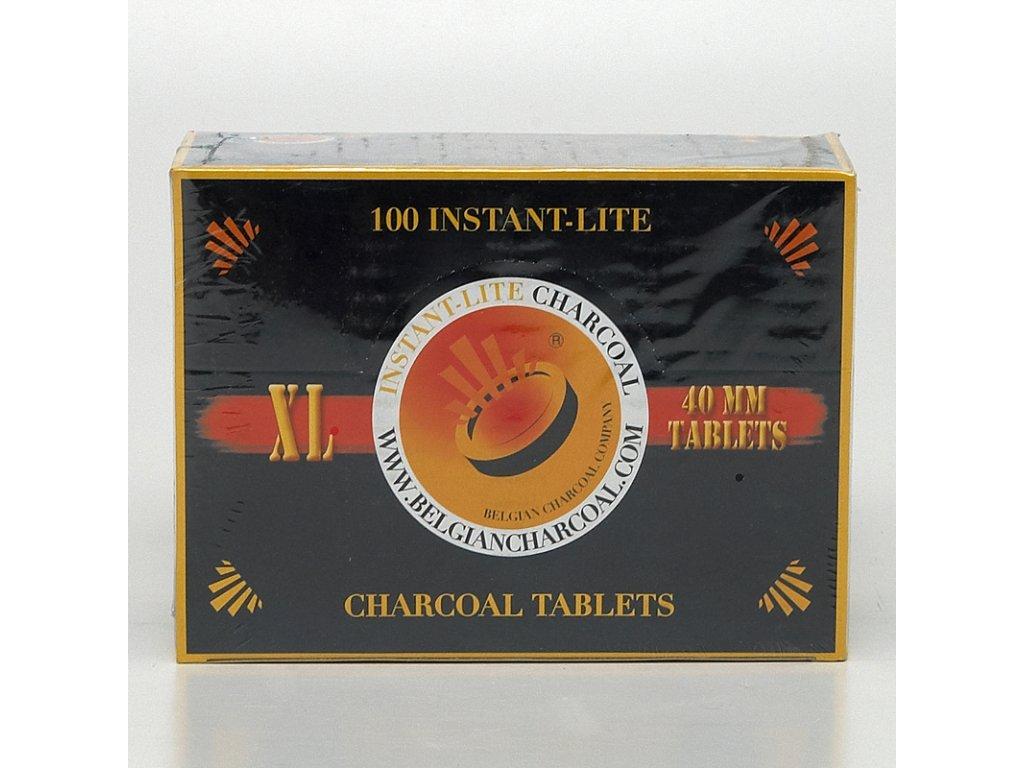 Uhlíky do vodnej fajky Instant Lite XL 40 mm 10 valčekov