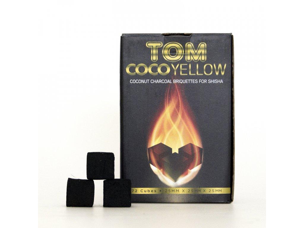 Uhlíky k vodnej fajke Tom Coco 1 kg Yellow