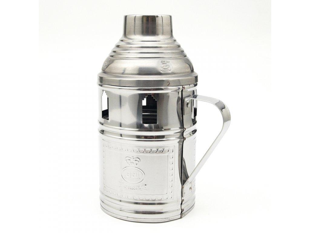 Tarbuš pre vodné fajky Al Fakher 22 cm strieborný