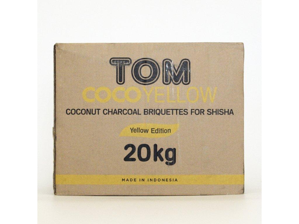 Uhlíky k vodnej fajke Tom Coco 20 kg Yellow