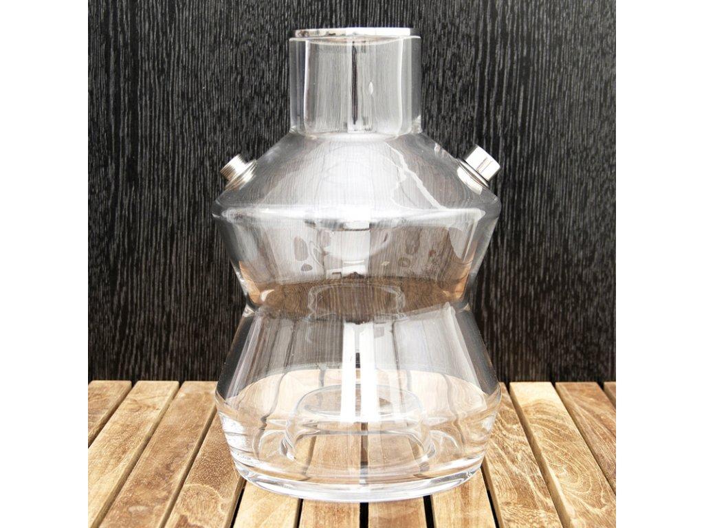 Váza pre vodné fajky Oduman N3 23 cm číra