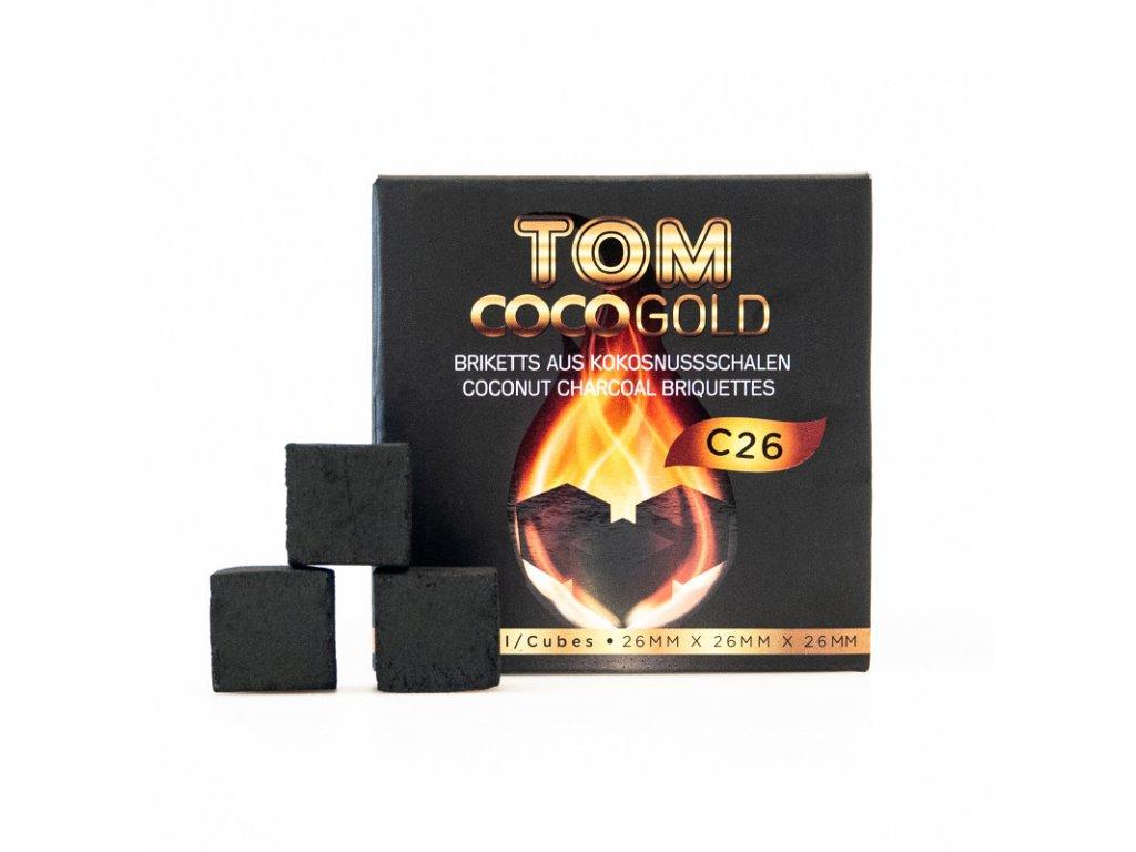 Uhlíky k vodnej fajke Tom Coco 1 kg C26 Gold