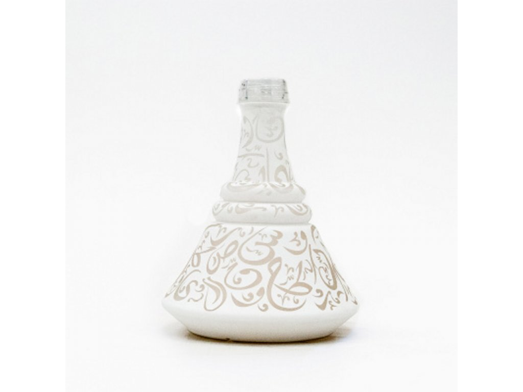 Váza pre vodné fajky Aladin Istanbul 30 cm biela