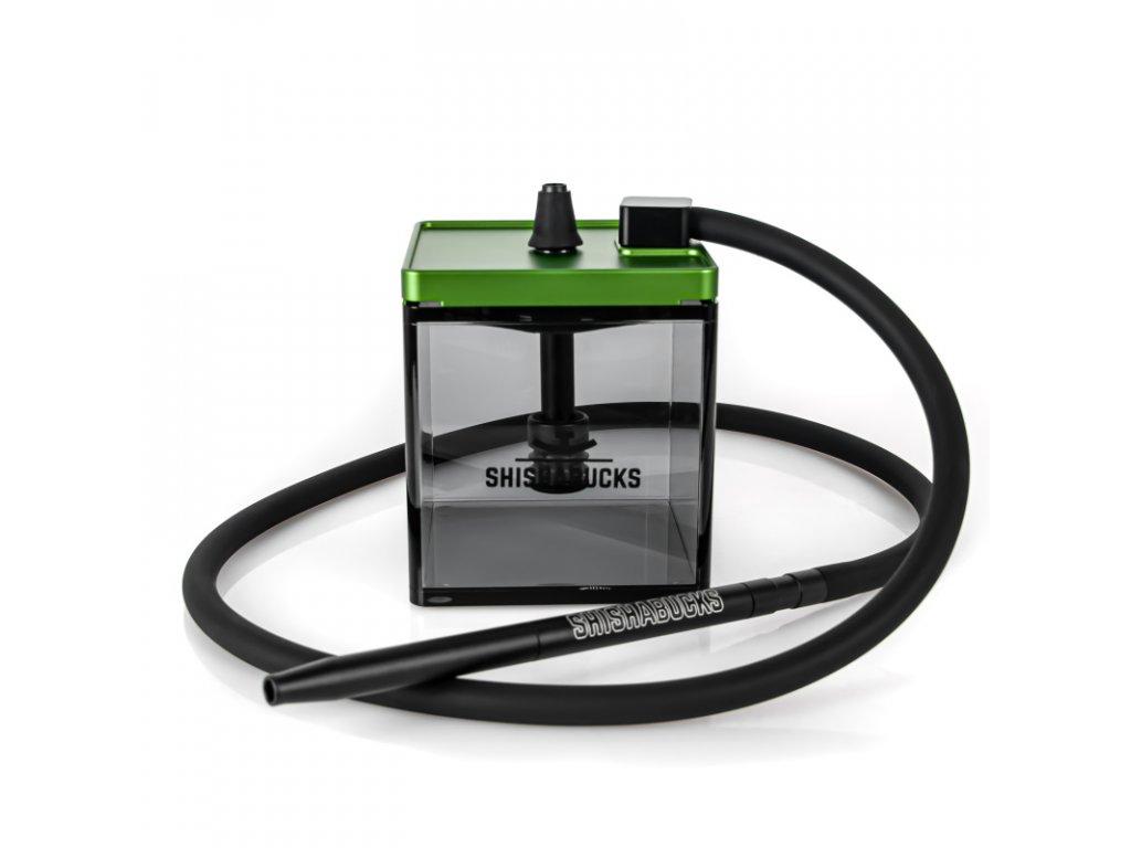 Vodná fajka Shishabucks Cloud Micro Black 18 cm zelená