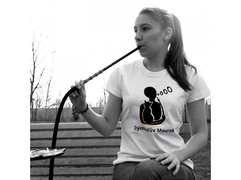 Tričko dámske Dýmkařův Mourek biela S