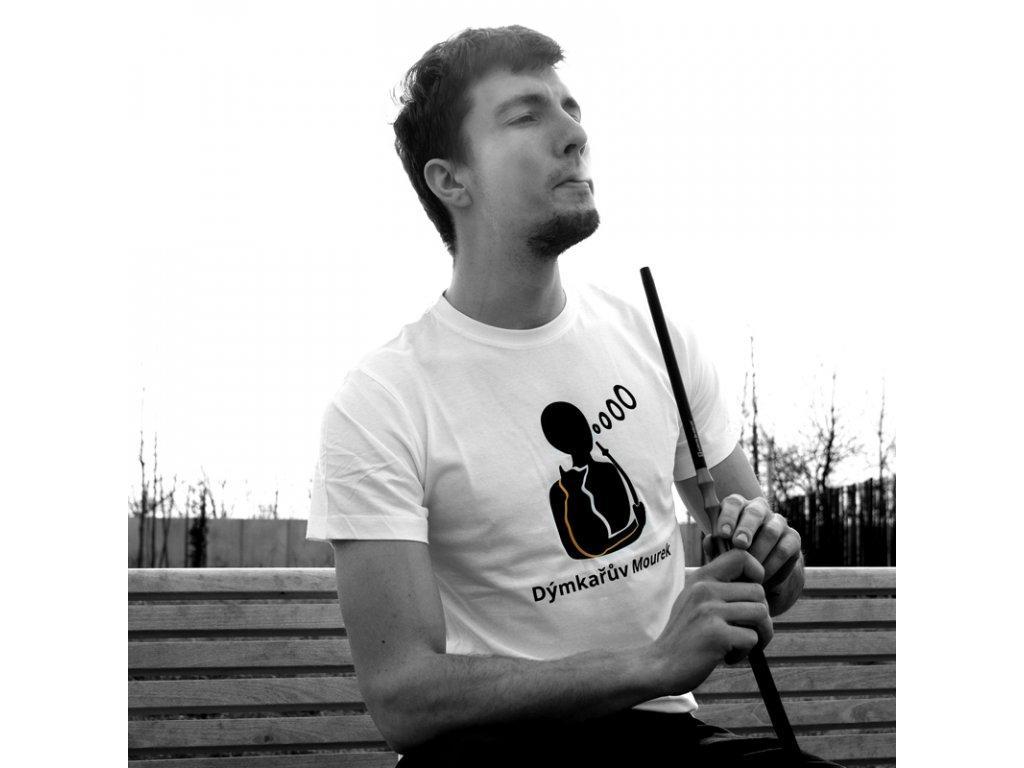 Tričko pánske Dýmkařův Mourek biela S